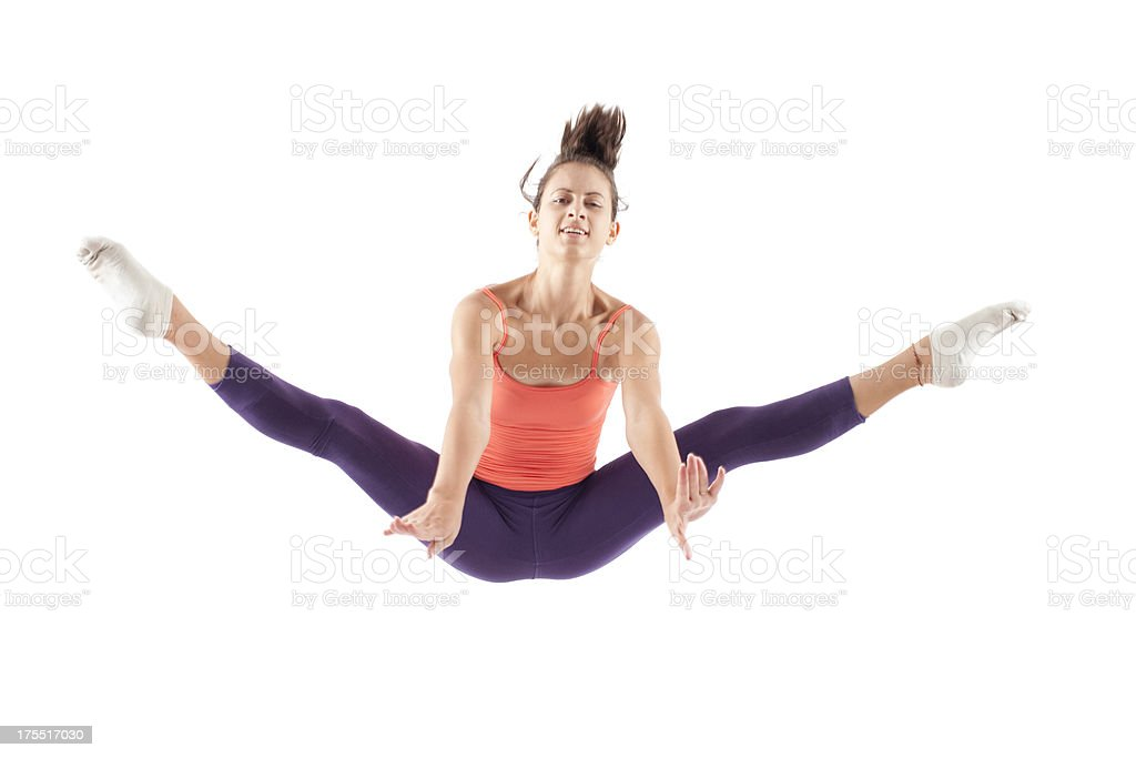 Jumping high. stock photo