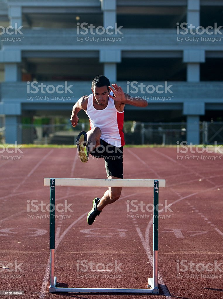 Jumping Hurdles royalty-free stock photo