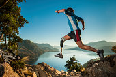 Jumping in Patagonia Argentina.