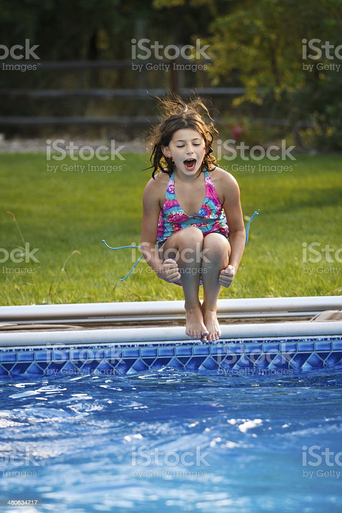 Jumping In stock photo