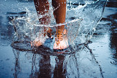 Jumping in the puddle