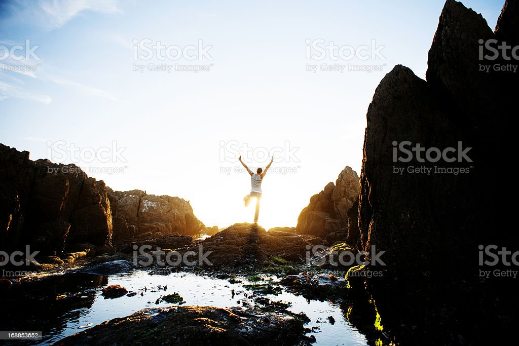 Jumping into the sun royalty-free stock photo