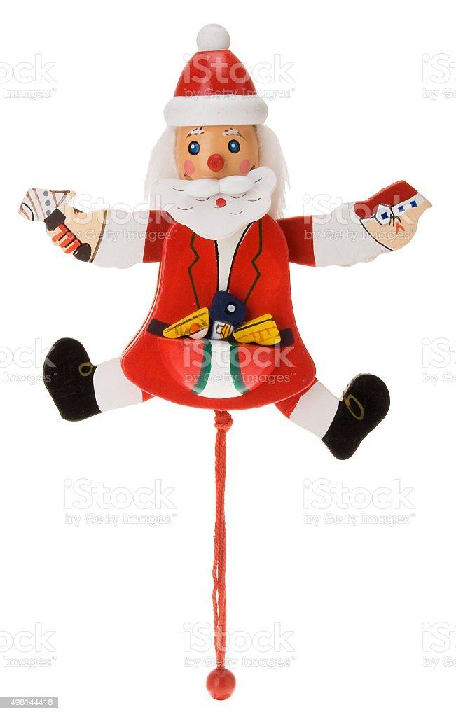 Hampelmann Weihnachtsmann stock photo