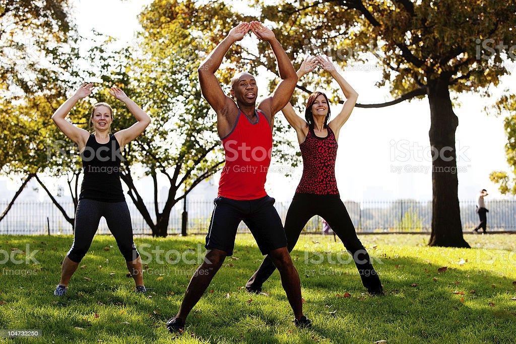 Jumping Jacks royalty-free stock photo