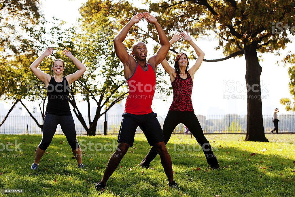 Jumping Jacks stock photo