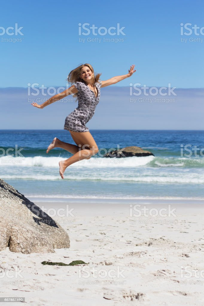 Jumping Jane Popcorn stock photo