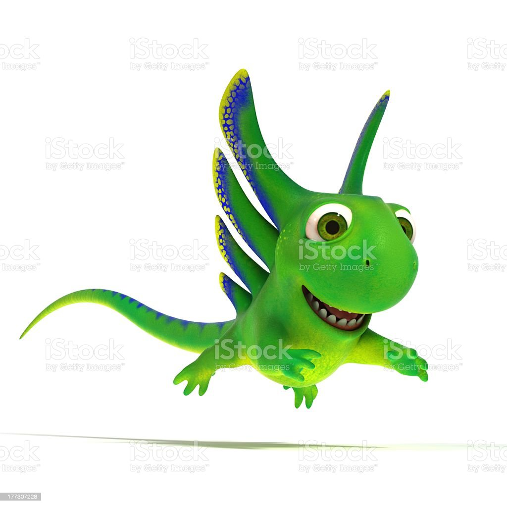 Jumping lizard royalty-free stock photo