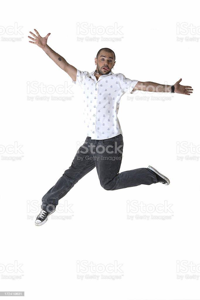 jumping man royalty-free stock photo