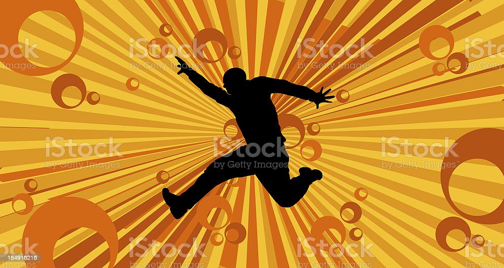 jumping man silhouette royalty-free stock photo