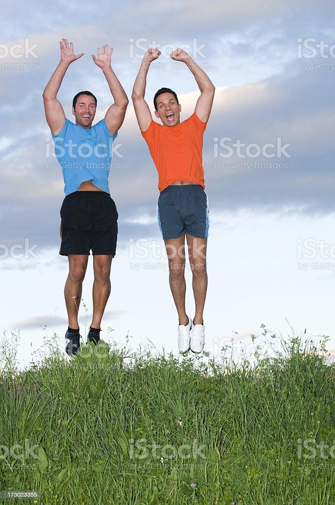 jumping men royalty-free stock photo