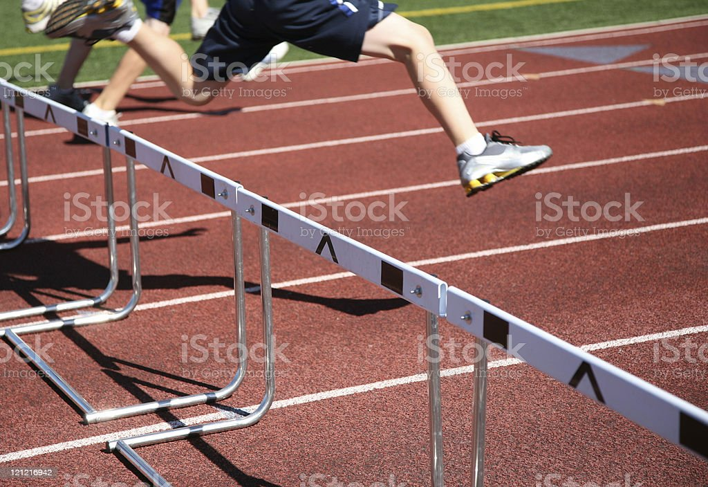 Jumping Over Hurdles royalty-free stock photo