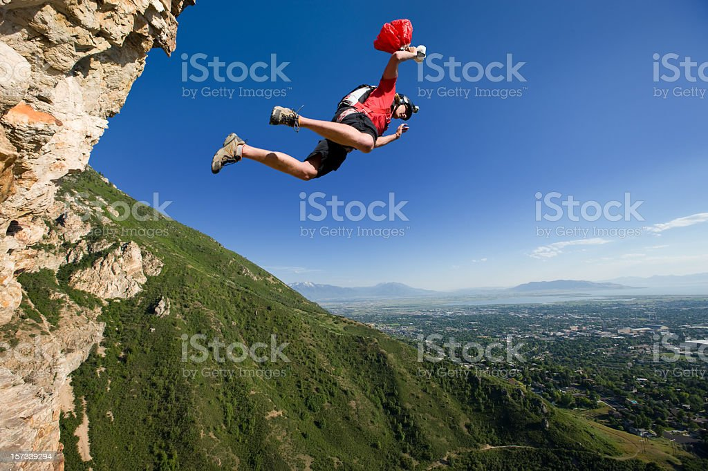 BASE Jumping stock photo