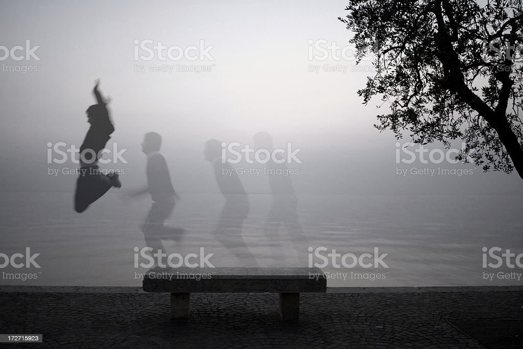 Jumping stock photo