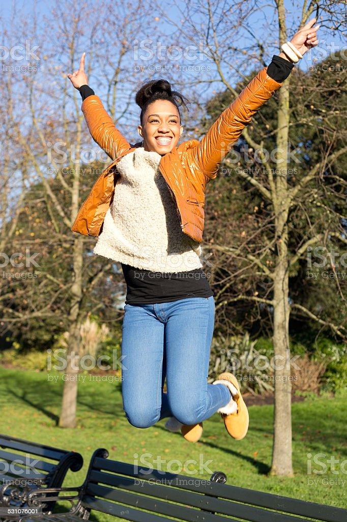 jumping royalty-free stock photo