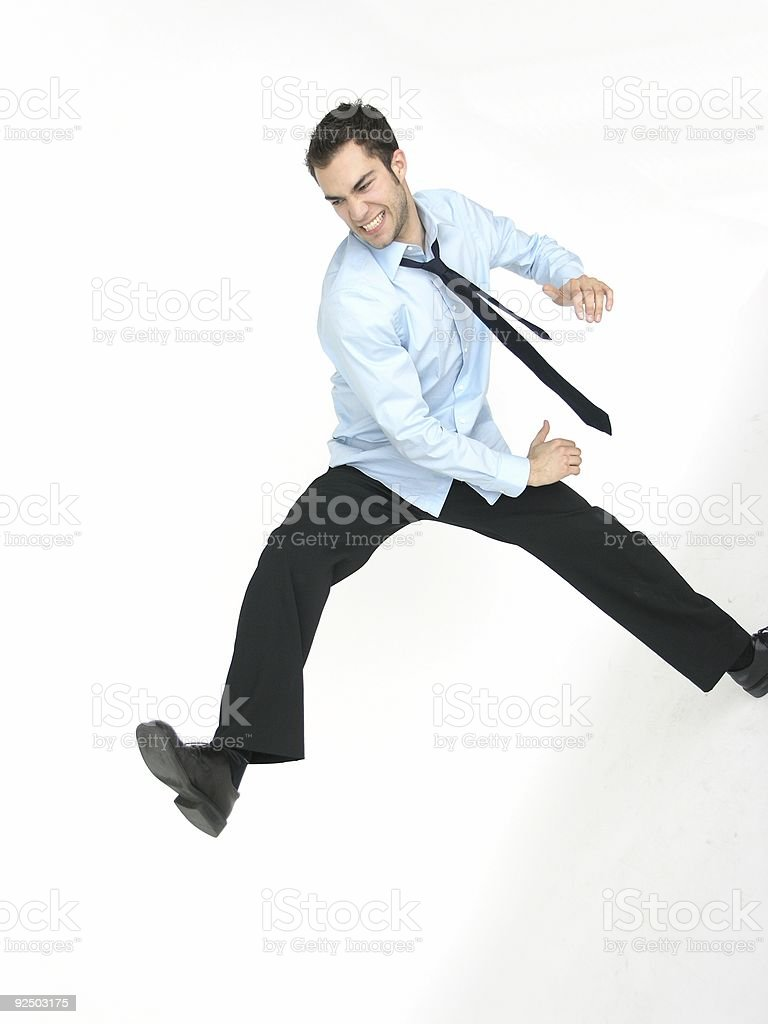 Jumping royalty-free stock photo