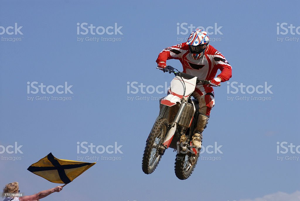 Jumping Red royalty-free stock photo