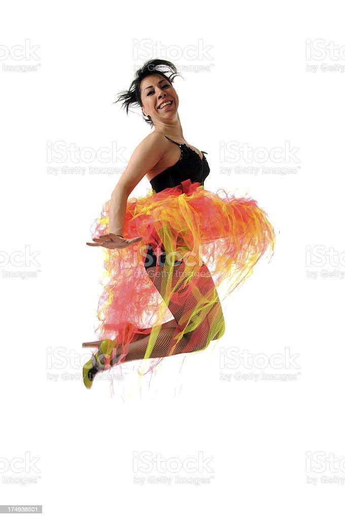 Jumping Sexy woman royalty-free stock photo