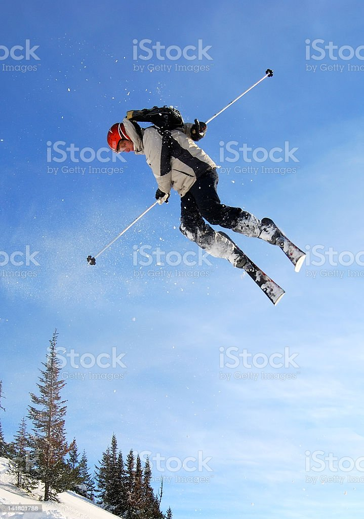 Jumping skier royalty-free stock photo