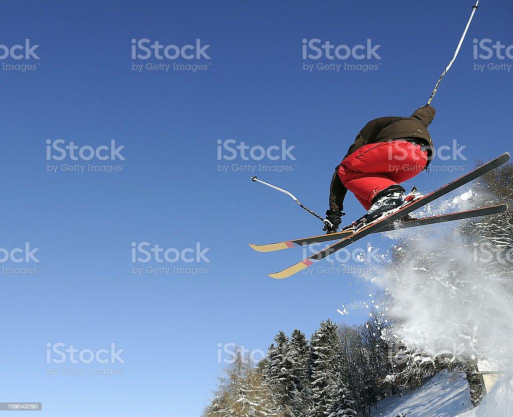 Jumping skier royalty-free stock photo