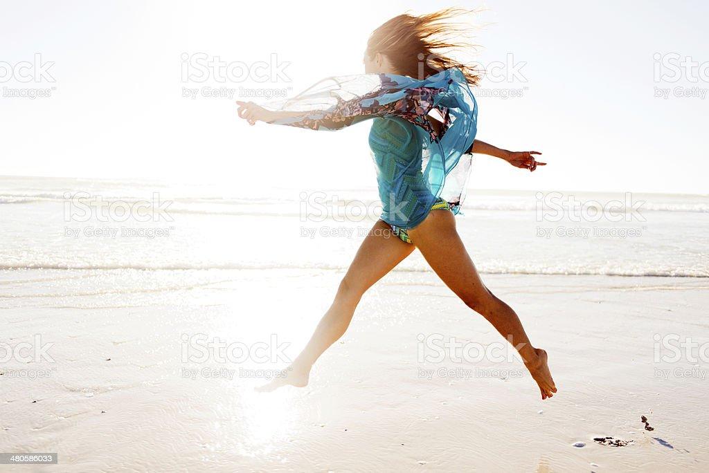 Jumping So High royalty-free stock photo