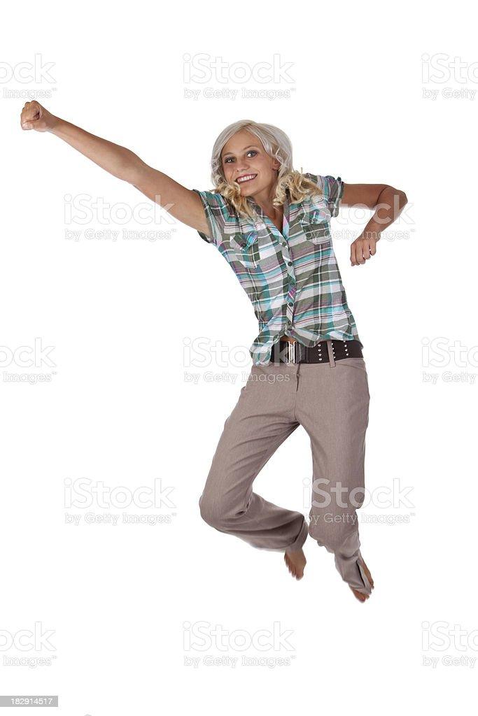 Jumping Teen Girl royalty-free stock photo