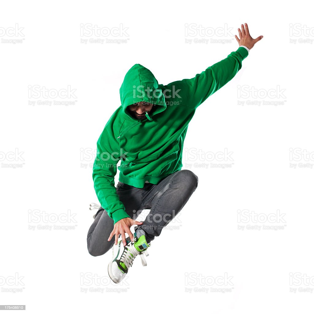 Jumping young  dancer stock photo