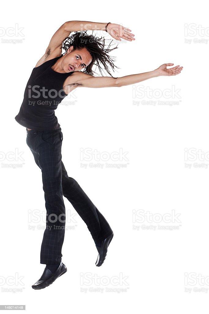 jumping young man royalty-free stock photo