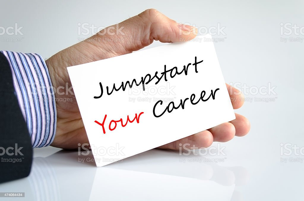 Jumpstart Your Career Concept stock photo