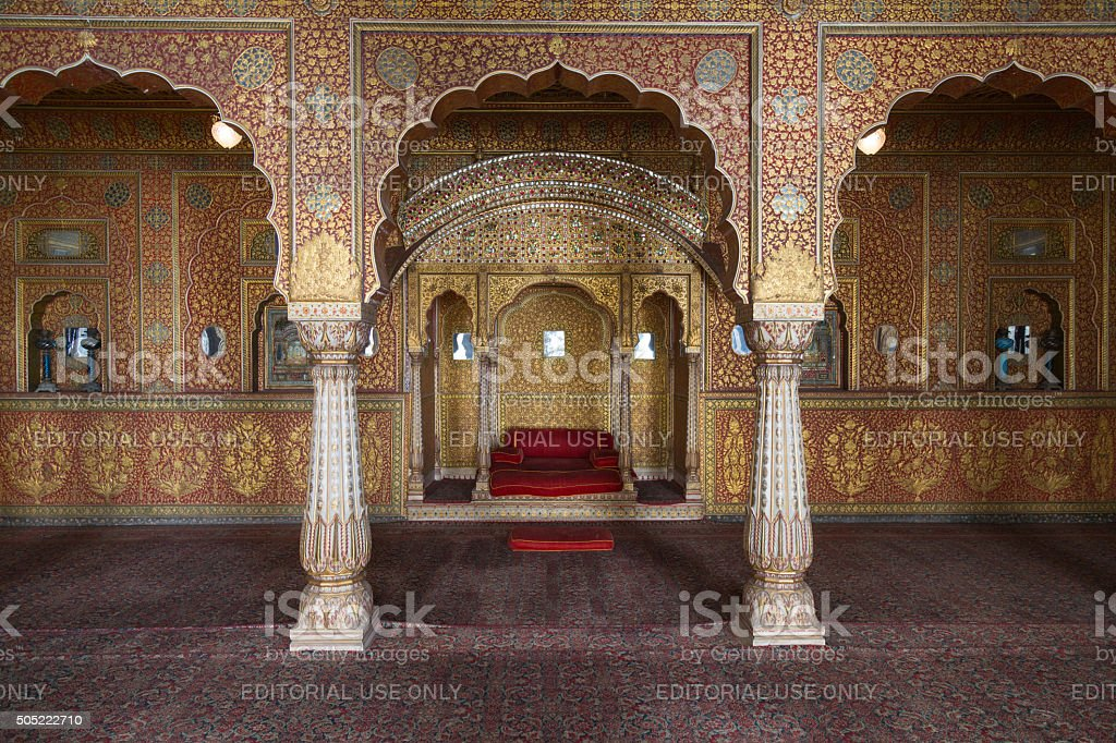 Junagarh fort interior, Bikaner, India stock photo