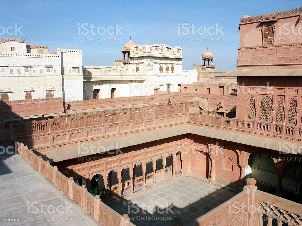 Junagarh fort,Bikaner,Rajasthan,India stock photo