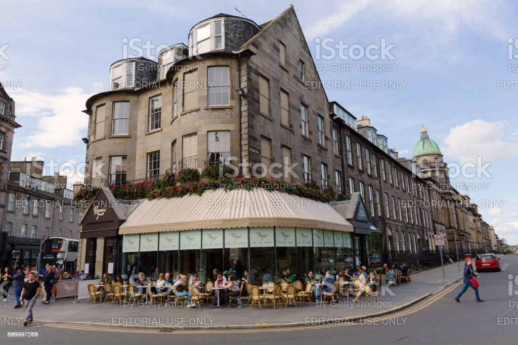 junction of Hope and Queensferry Street in Edinburgh, UK stock photo