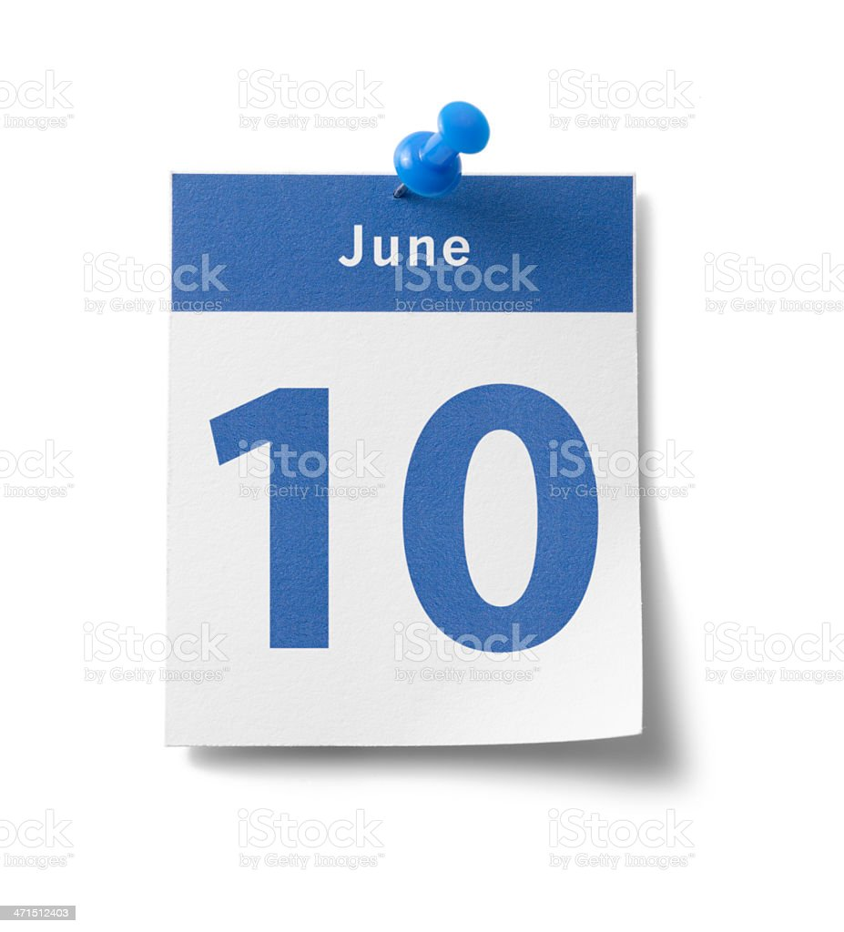 June 10th royalty-free stock photo
