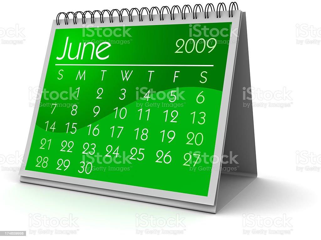 June 2009 royalty-free stock photo