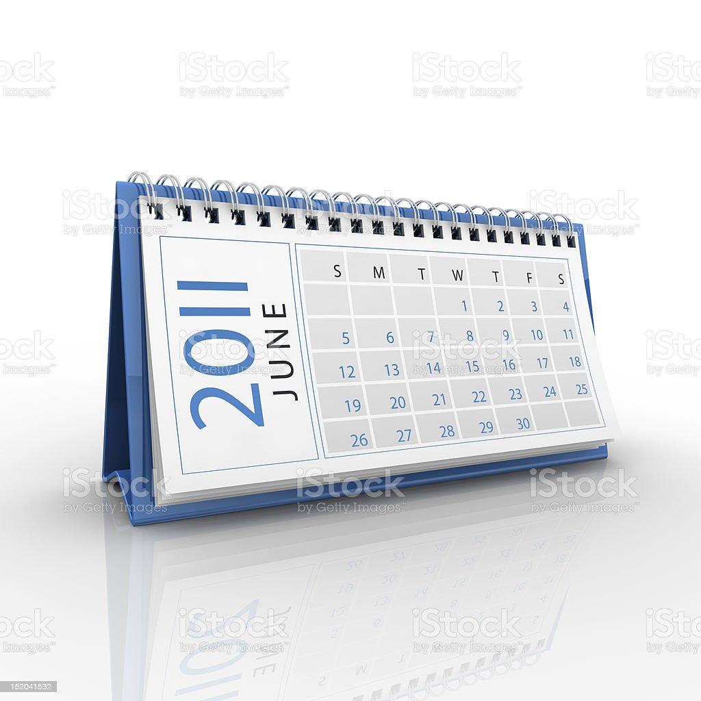 June 2011 calendar royalty-free stock photo