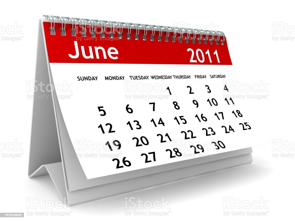 June 2011 - Calendar series royalty-free stock photo
