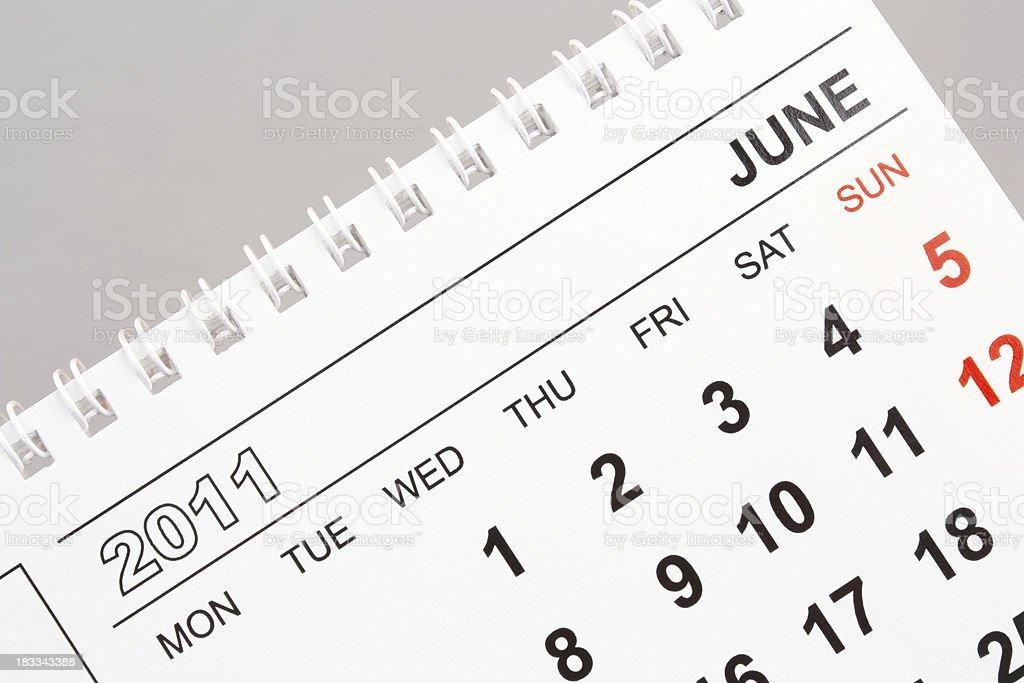 June 2011 royalty-free stock photo