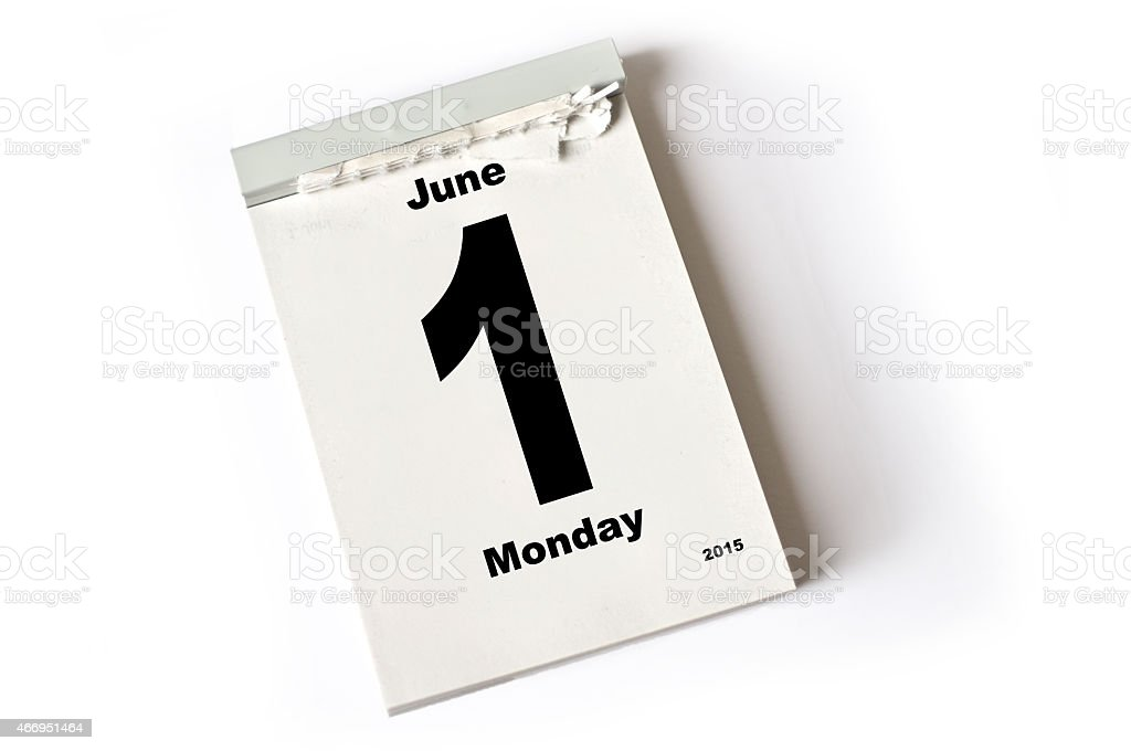 1. June 2015 stock photo