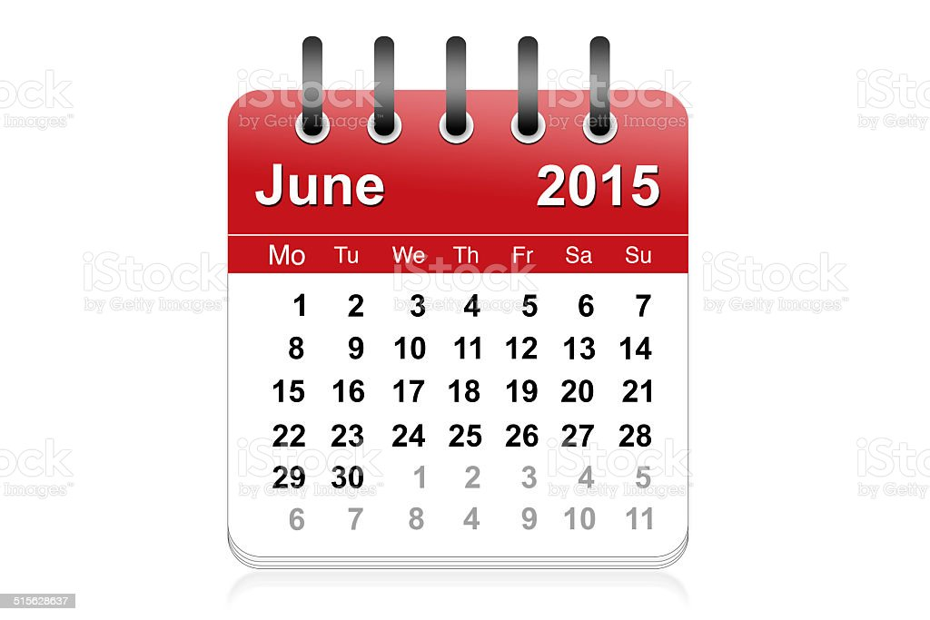 June 2015 stock photo