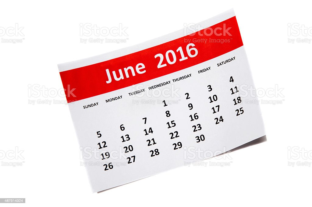 June 2016 stock photo