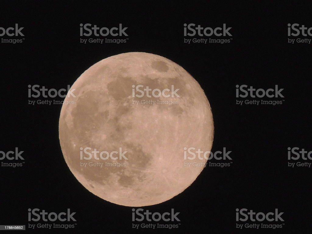 Le 23 juin Super lune photo libre de droits