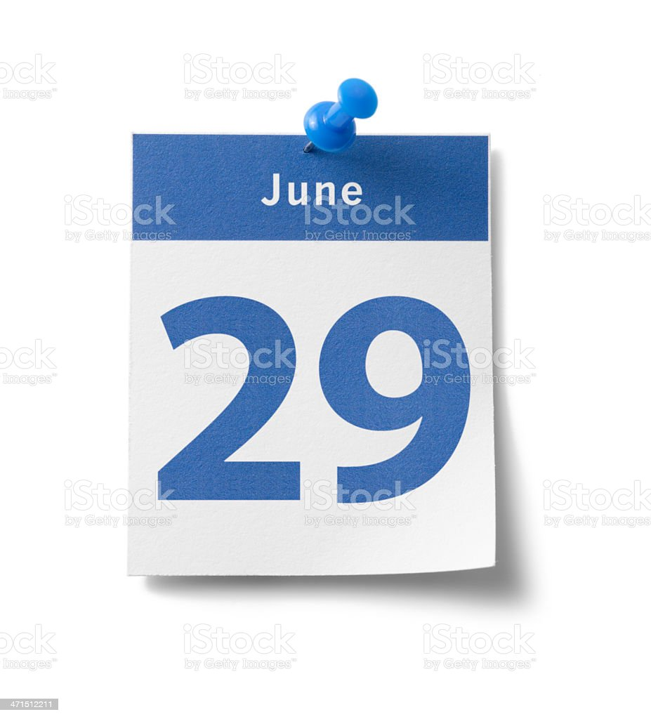 June 29th royalty-free stock photo