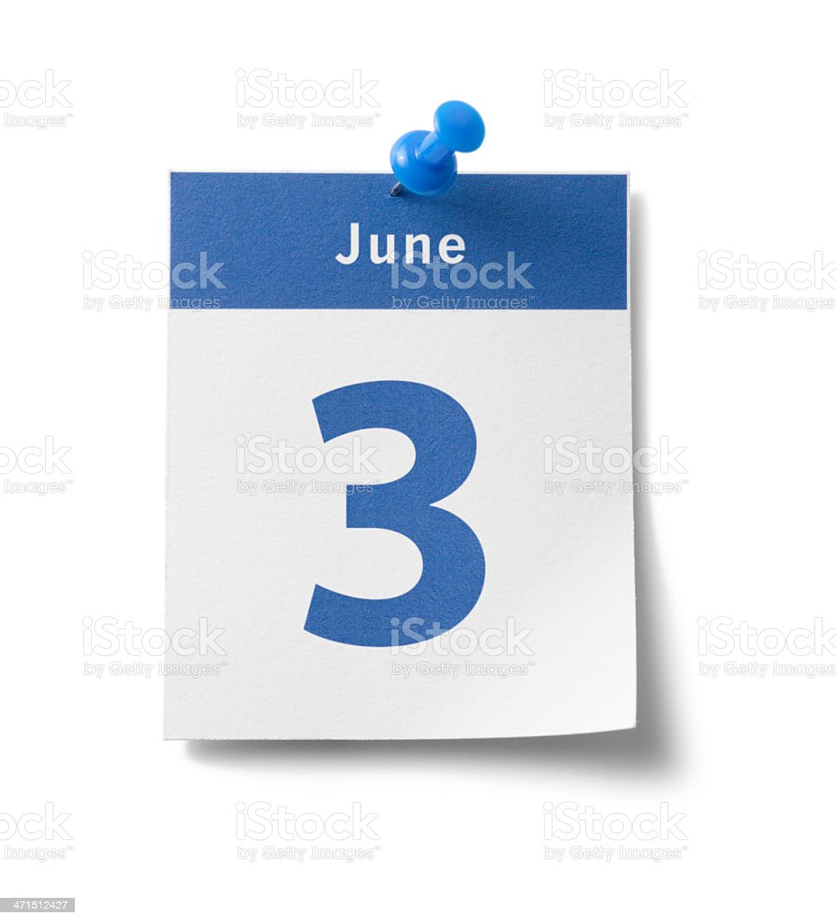 June 3rd royalty-free stock photo