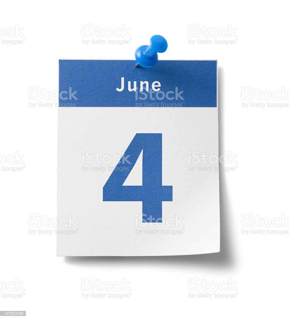 June 4th royalty-free stock photo