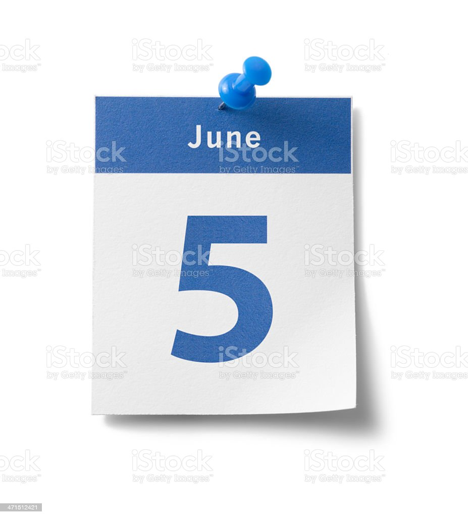 June 5th royalty-free stock photo