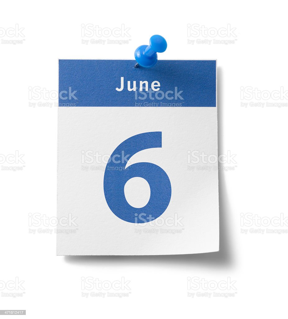 June 6th stock photo