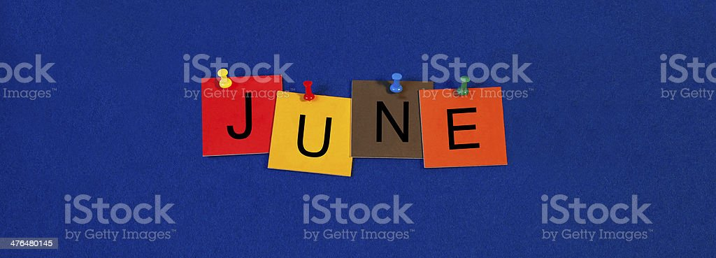 June - calendar and month series. royalty-free stock photo