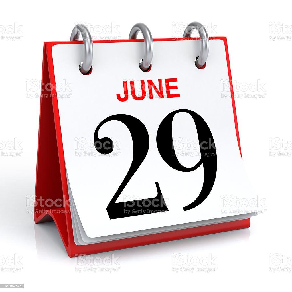 June Calendar royalty-free stock photo