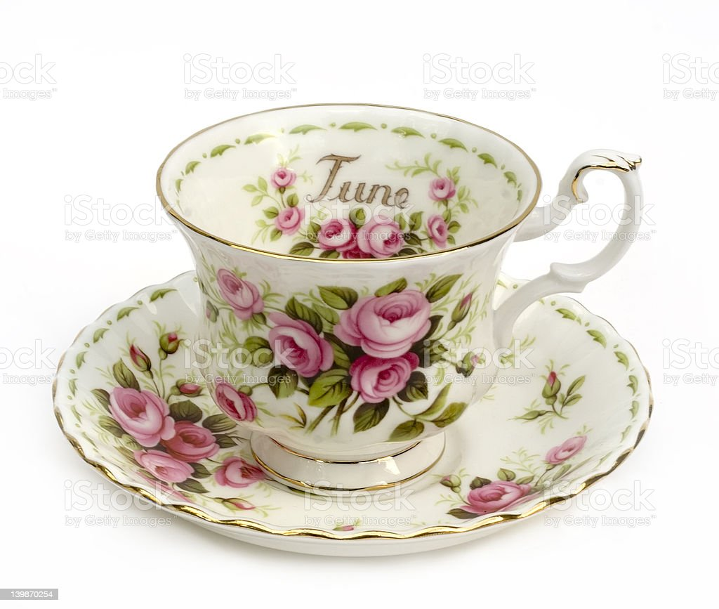 June Cup and Saucer royalty-free stock photo