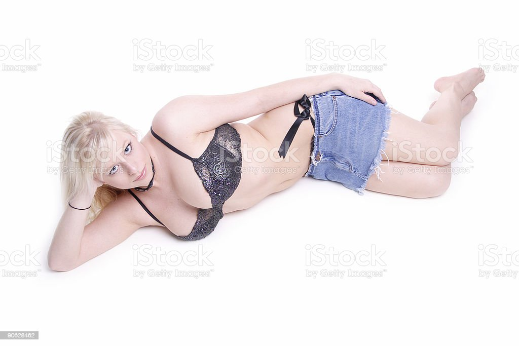 June: Full body pose. stock photo