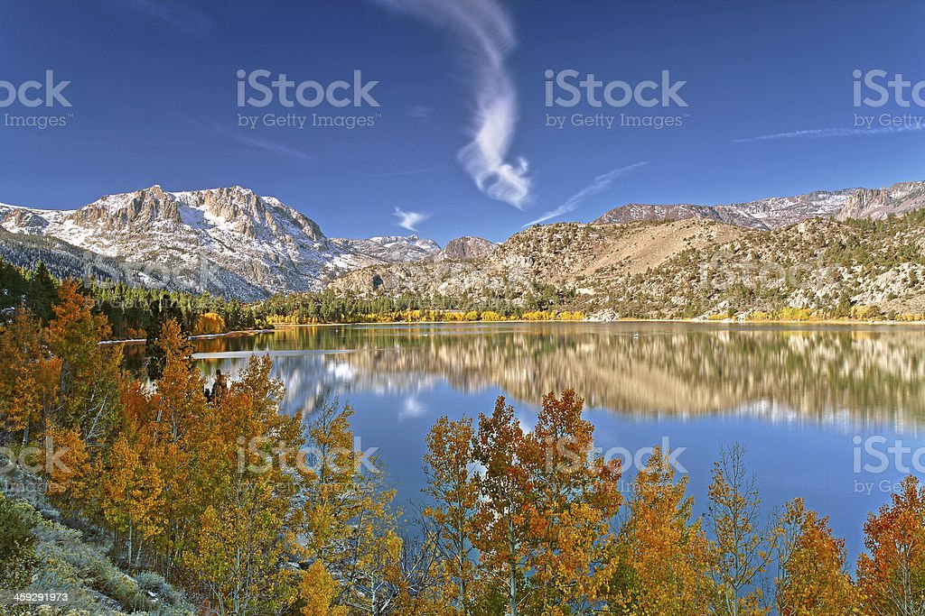 June Lake at Fall stock photo